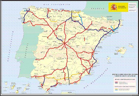 mapa comboios espanha Análise Geopolítica e Geoestratégica de Portugal. Factores Físico  mapa comboios espanha